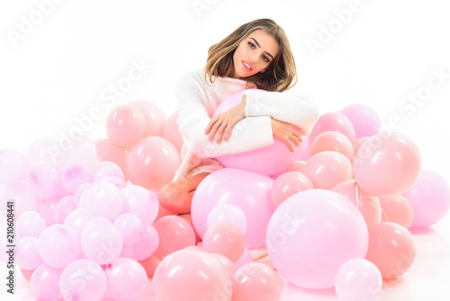 Sexy young female ballons