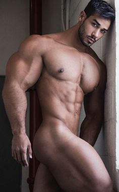 Young sexy naked muscle candy