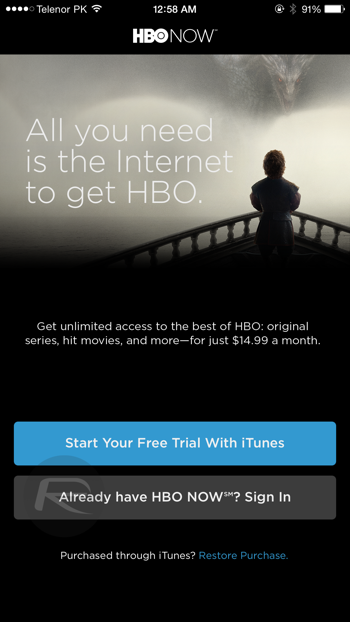 Hbo now month free trial